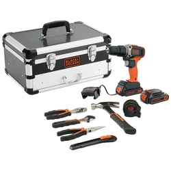 Black and Decker - 18V 2x 15Ah Schroefklopboormachine met lader 6 handgereedschappen in flightcase - BCD003BHFC