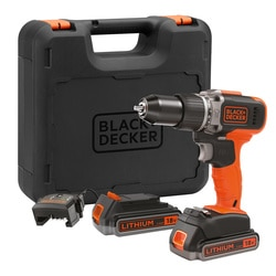 Black and Decker - 18V 2x 25Ah Schroefklopboormachine met snellader in koffer - BCD003ME2K