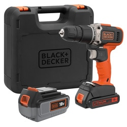 Black and Decker - 18V 1x20Ah 1x40Ah Schroefklopboormachine met snellader in koffer - BCD003MEM2K