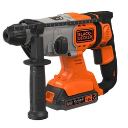 BLACK+DECKER - Marteau pneumatique SDS 18V 25Ah en coffret - BCD900E2K