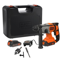 Black and Decker - 18V 2x25Ah SDS Boorhamer in koffer - BCD900E2K