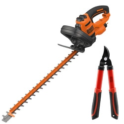 Black and Decker - 500W 55cm Heggenschaar met Sawblade innovatie  snoeischaar - BEHTS401KIT
