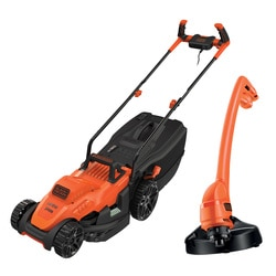 Black and Decker - 1400W 34cm Grasmaaier met Bikehandle handgreep  250W Strimmer - BEMW461BGL2