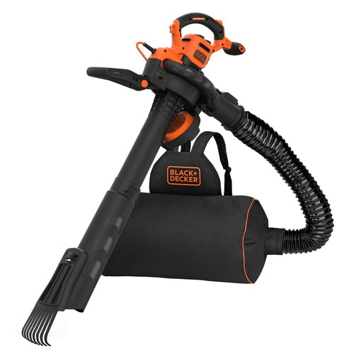 Black And Decker - 3000W 3IN1 bladblazer met ruggedragen opvangzak en extra hark - BEBLV301