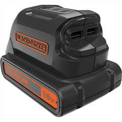 Black and Decker - NL 18V USB Charger - BDCU15AN