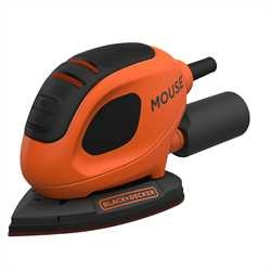 Black and Decker - 55W Mouse detailschuurmachine met 6 schuurvellen - BEW230