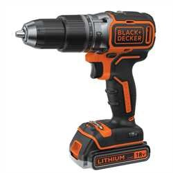 Black and Decker - 18V Brushless accuklopboormachine geleverd met 2 accus lader en koffer - BL188E2K