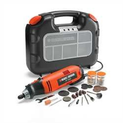 Black and Decker - Precisie multitool in koffer met 87 accessoires - RT650KA