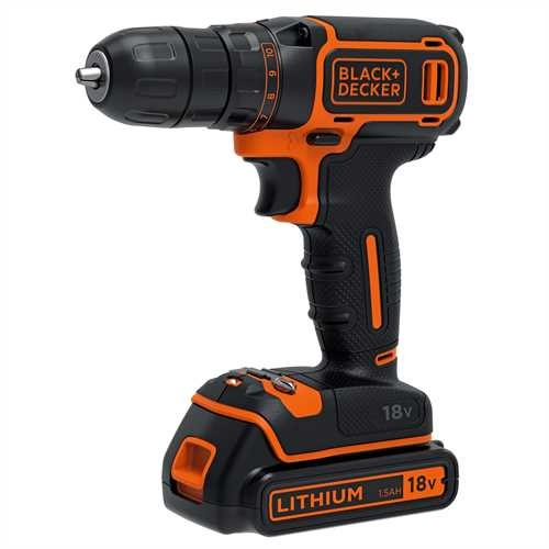 Black and Decker - 18V 2x15Ah Schroefboormachine - BDCDC18B