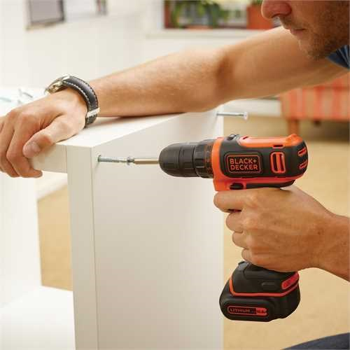 Black and Decker - 108V Ultra compacte Lithium Ion accuschroefboormachine - BDCDD12KB