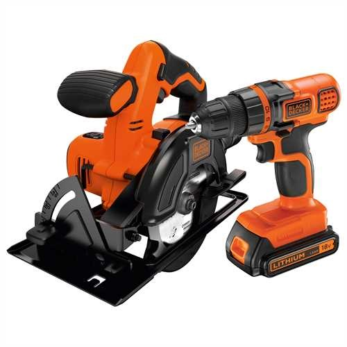 Black and Decker - 18V Schroefboormachine  Cirkelzaag met 2 20Ah accus - BDCDDCS18B2