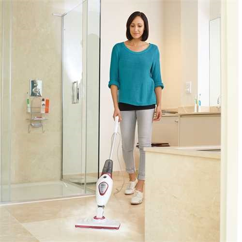 Black and Decker - 1600W steammop met Autoselect Technology en tapijtglijder - BDS1616R