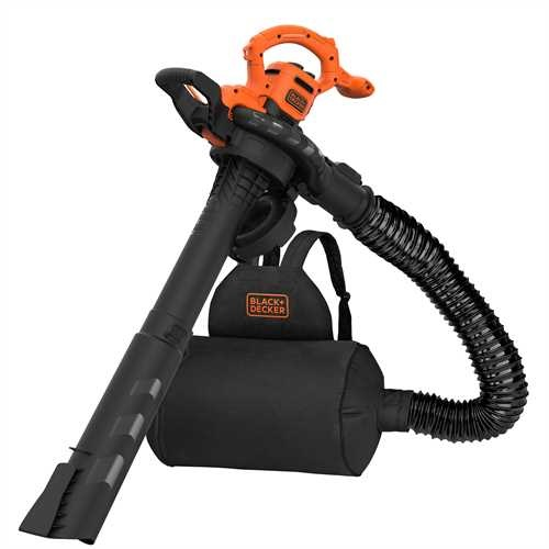 Black and Decker - 2900W 3IN1 bladblazer met ruggedragen opvangzak - BEBLV290