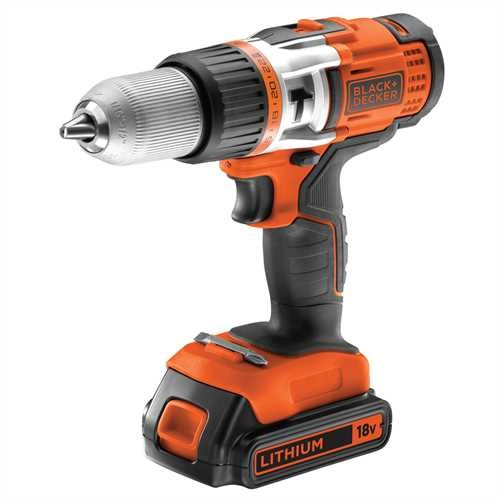 Black and Decker - 18V High Performance Accuklopboormachine met 20 accus - EGBHP188BK2