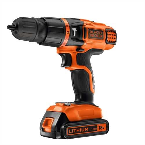 Black and Decker - 18V Lithium Accuklopboormachine met twee snelheden - EGBL188K