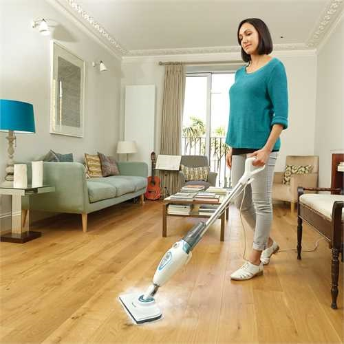 Black and Decker - 1300W steammop met 2 stoomdoeken - FSM1615